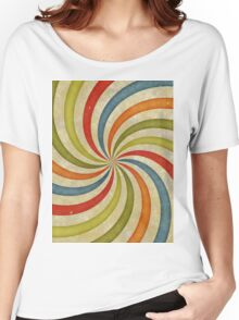Psychedelic Retro Spiral Women's Relaxed Fit T-Shirt