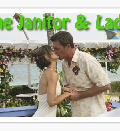 The Janitor & Lady  Sticker