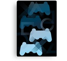 PS3 Gaming blue Canvas Print