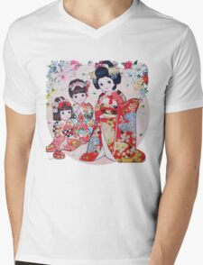Retro 80s Japanese Children's Puzzle by Apollo Sha Mens V-Neck T-Shirt