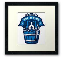 Team Pup N Suds Framed Print