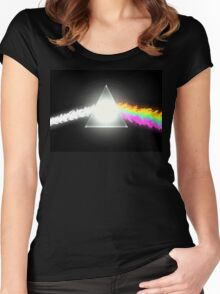 psychedelic dark side of the moon Women's Fitted Scoop T-Shirt
