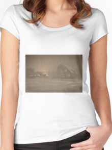 Snowy Night Women's Fitted Scoop T-Shirt