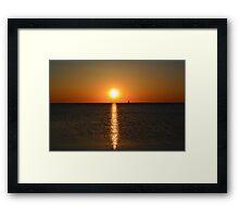 Green Bay postcard sunset - 1 Framed Print