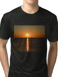 Green Bay postcard sunset - 1 Tri-blend T-Shirt