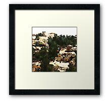 Far Away Desert Framed Print