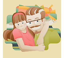 Daddy's girl Photographic Print