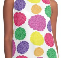 Multi-colored Chrysanthemums Contrast Tank