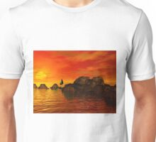 Smooth Sailing at Sunset Unisex T-Shirt