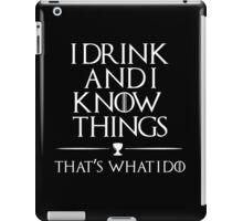 I know it all iPad Case/Skin
