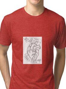 Amity Affliction Lyrics Tri-blend T-Shirt