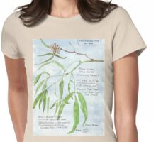 Black Karee leaves - Rhus lancea - Botanical Womens Fitted T-Shirt