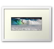 Surfer at Frazer Beach Framed Print