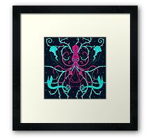 bioluminescent Squid Framed Print