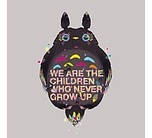 totoro we are the  children Photographic Print