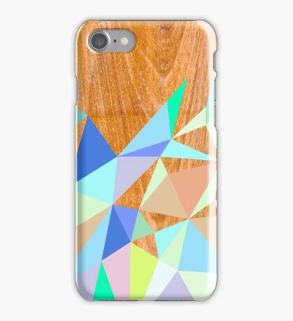 Wooden Geo Aqua iPhone Case/Skin