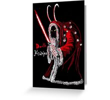 Darth Krampus Greeting Card