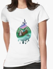 lake drops Womens Fitted T-Shirt