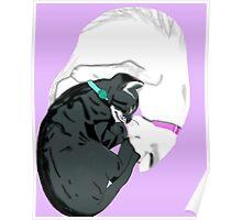 yin and yang cats Poster