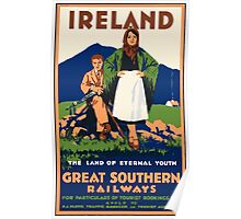 Ireland The Land Of Eternal Youth Great Southern Railways Vintage Travel Poster Poster
