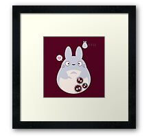 totoro funny ghost Framed Print