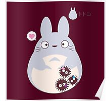 totoro funny ghost Poster
