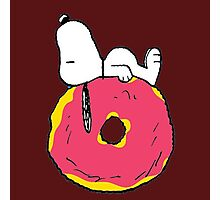 snoopy love donuts Photographic Print