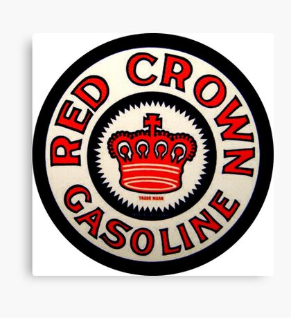 red Crown Gasoline Canvas Print