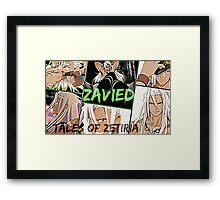 Tales Of Zetiria collage 2 Zavied Framed Print
