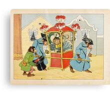 Meggendorfer, Lothar. Living charade. A drawing picture book. With chromolithogr Canvas Print