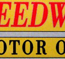 Speedway motor oil Sticker