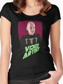 Knox Harrington, The Video Artist Women's Fitted Scoop T-Shirt