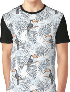 Palm leaves and Toucan Graphic T-Shirt
