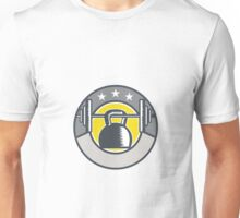 Kettlebell Hanging Barbell Circle Retro Unisex T-Shirt