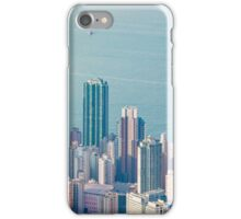 Panorama of Hong Kong Harbour in vintage tone, winter iPhone Case/Skin