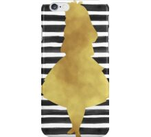 Alice black and gold iPhone Case/Skin