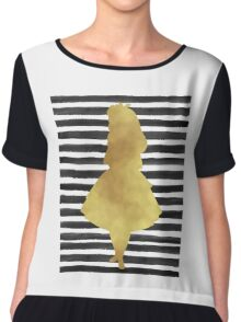 Alice black and gold Chiffon Top
