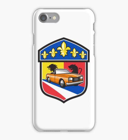 Vintage Cabriolet Fleur-de-Lis Crest Retro iPhone Case/Skin