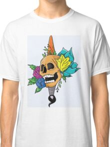 Blooming Skull and Brush Classic T-Shirt