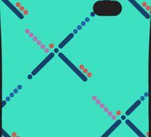 simple pdx carpet pattern Sticker