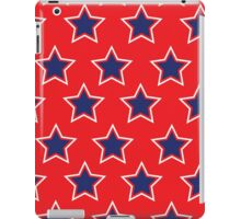 Blue Stars on Red Background iPad Case/Skin