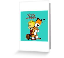 Calvin And doll hobbes Greeting Card