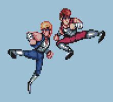 Double Dragon Jump Kicks Kids Tee