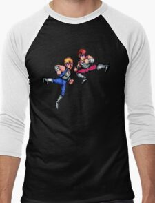 Double Dragon Jump Kicks Men's Baseball ¾ T-Shirt