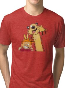 calvin and hobbes yucks Tri-blend T-Shirt