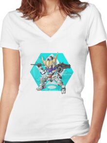 Barbatos Women's Fitted V-Neck T-Shirt