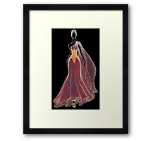 Autumn Dress Framed Print