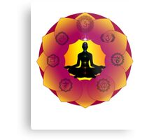 Yoga Lotus Metal Print
