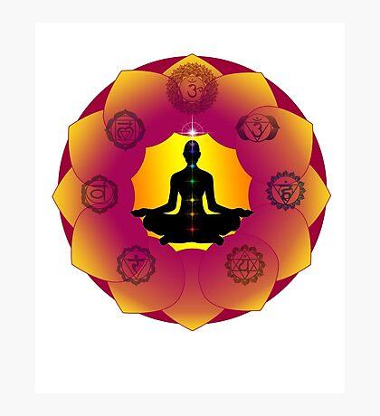 Yoga Lotus Photographic Print