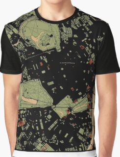 London city engraving map Graphic T-Shirt
